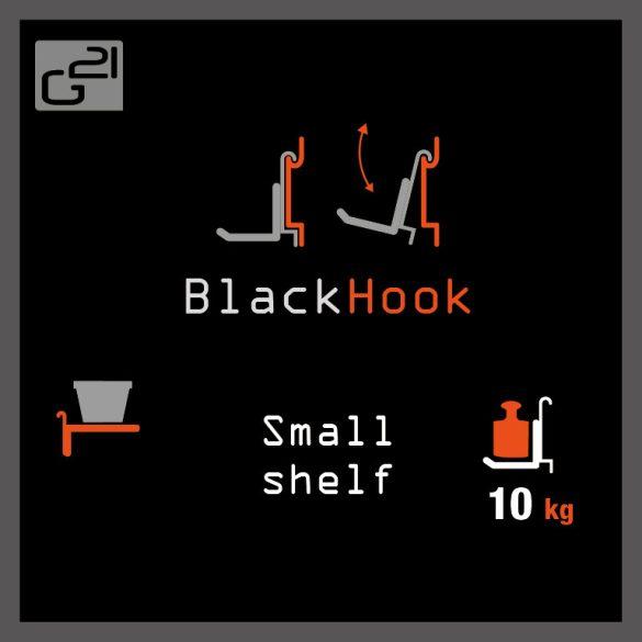 G21 felfüggesztési rendszer BlackHook small shelf 60x20x9 cm