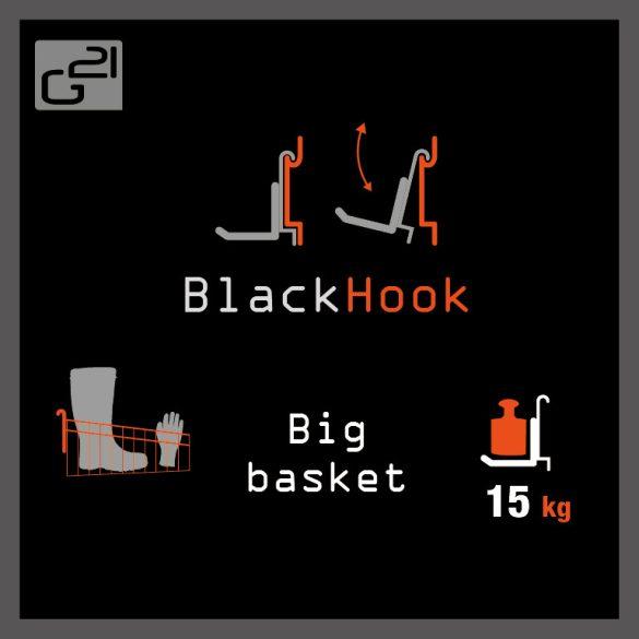 G21 felfüggesztési rendszer BlackHook big basket 62x31x10 cm