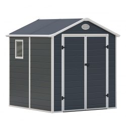 Kerti tároló ház kb. 2 X 2 méter alapterület, polikarbonát, szürke, G21