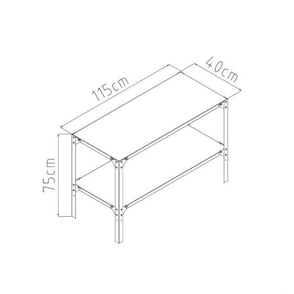 G21 Fémpolc 115x40 cm a kerti házakhoz és üvegházakhoz