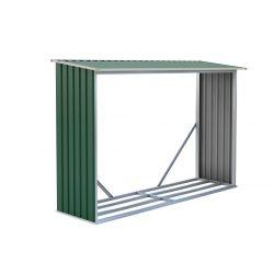 Tüzifa tároló 2,3m3, 242 x 75 cm, zöld, Penta G21