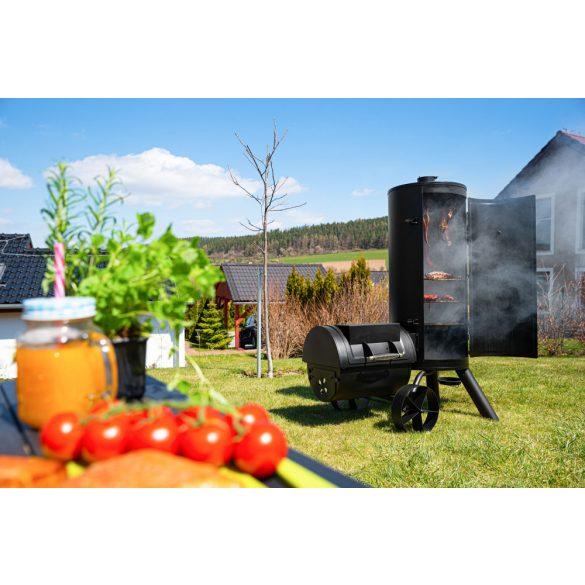 G21 Kansas faszenes kerti grill és füstölő