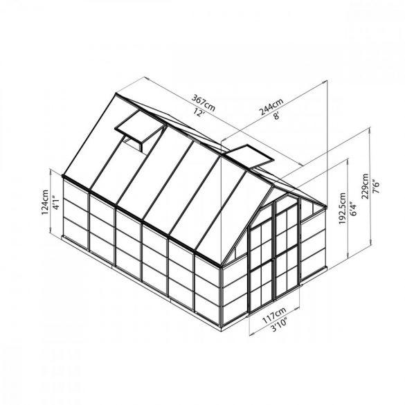 Palram Balance 8x12 silver polikarbonát üvegház
