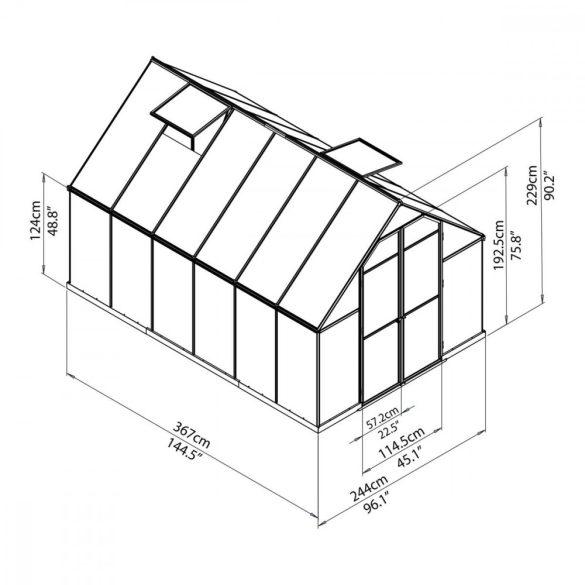 Palram Essence 8x12 silver polikarbonát üvegház