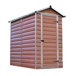 Kerti tároló ház 1,75 X 1,1 méter alapterület, Polikarbonát, barna, PALRAM Skylight 4x6