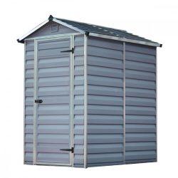 Kerti tároló ház 1,75 X 1,1 méter alapterület, Polikarbonát, szürke, PALRAM Skylight 4x6