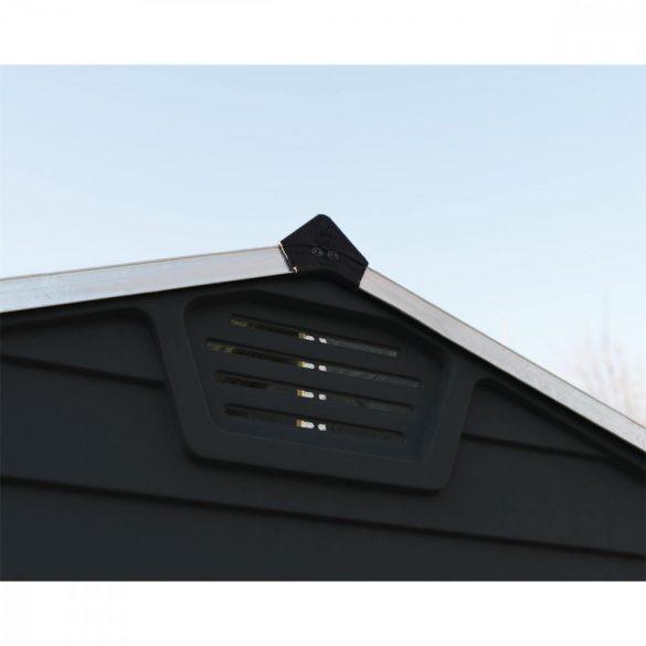 Kerti tároló ház 1,85 X 1,5 méter alapterület, polikarbonát, antracit, PALRAM Skylight 6X5