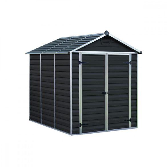 Kerti tároló ház 2,3 X 1,85 méter alapterület, polikarbonát, antracit, PALRAM Skylight 6X8