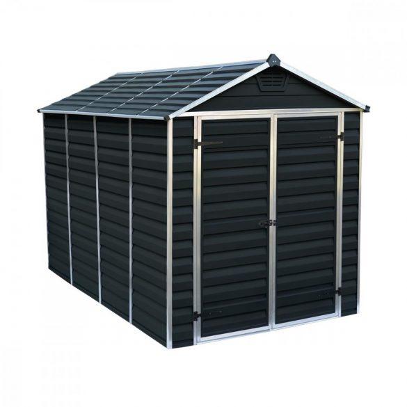 Kerti tároló ház 3 X 1,85 méter alapterület, polikarbonát, antracit, PALRAM Skylight 6X10