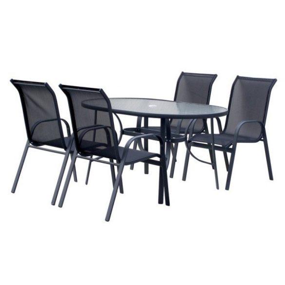 hecht felületkezelt fém kerti bútor szett, 4 szék 1 asztal kert és hobbi EKONOMYSET4