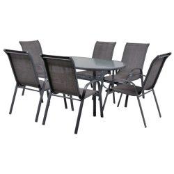 hecht felületkezelt fém kerti bútor szett, 6 szék 1 asztal kert és hobbi EKONOMYSET6