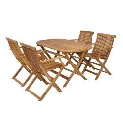 hecht kemény akácfa kerti bútor szett, 4 szék 1 asztal kert és hobbi HECHTBASICSET4