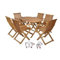 hecht kemény akácfa kerti bútor szett, 6 szék 1 asztal kert és hobbi HECHTBASICSET6
