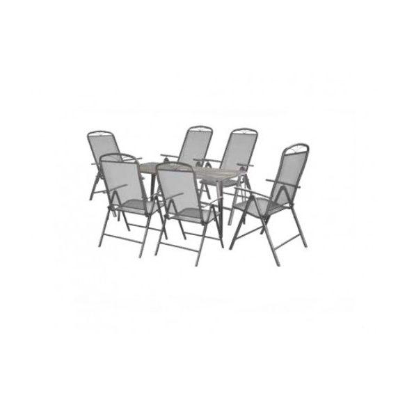 hecht porszórt fém kerti bútor szett, 6 szék, 1 asztal luxus minőség kert és hobbi HECHTNAVASSALUX6