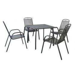 hecht porszórt fém kerti bútor szett, 4 szék, 1 asztal  kert és hobbi HECHTNAVASSASET4