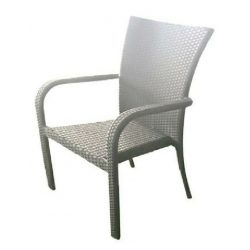hecht műrattan kerti szék, fehér kert és hobbi HECHTRATTANCHAIR