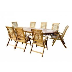 hecht kemény akácfa kerti bútor szett, 8 szék 1 asztal luxus minőség kert és hobbi HECHTROYAL