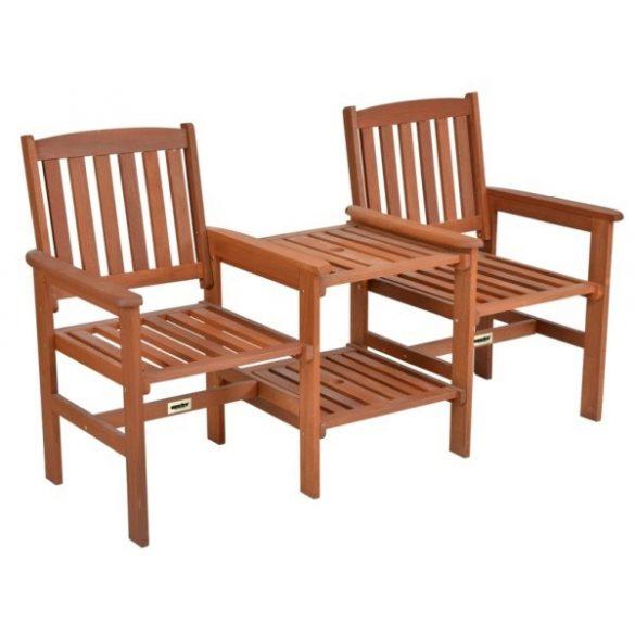 hecht praktikus fa kerti bútor 2 szék 1 asztal egybeépített kombinációja kert hobbi HECHTTEEBENCH
