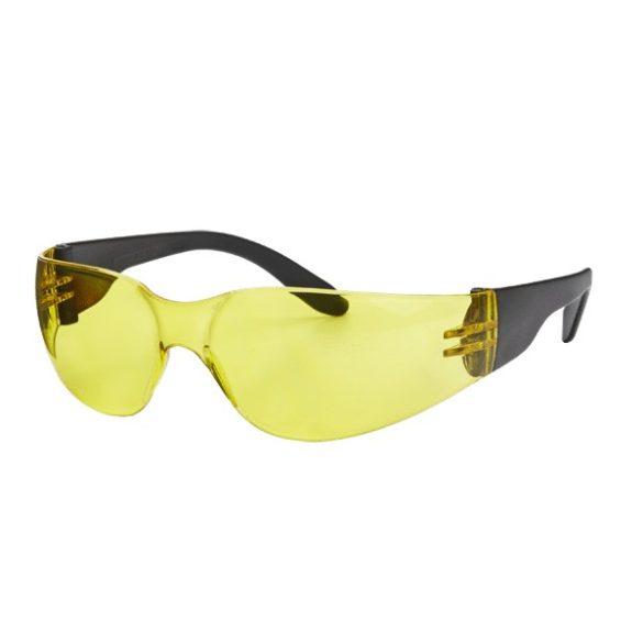 Védőszemüveg, uv-álló, sárga