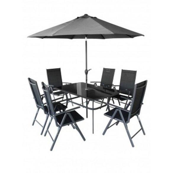 hecht felületkezelt fém kerti bútor szett, 6 szék 1 asztal napernyővel kert és hobbi SHADOW_SET