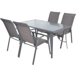 hecht felületkezelt fém kerti bútor szett, 4 szék 1 asztal üveglappal kert és hobbi SOFIASET4